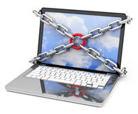 Laptop protection Royalty Free Stock Images