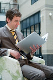 Laptop Reading Royalty Free Stock Images