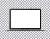 Laptop realistic with a blank screen on the background isolate, stylish  illustration EPS10.  Stock Photography