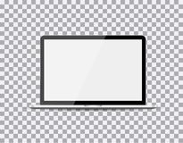Laptop realistic with a blank screen on the background isolate, stylish  illustration EPS10.  Royalty Free Stock Photo