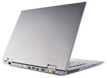 Laptop rear view over white Royalty Free Stock Photo