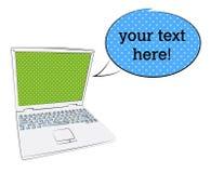 Laptop reclame vector illustratie