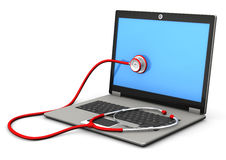 Laptop Stethoscope Royalty Free Stock Images