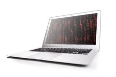 Laptop And Red Text Royalty Free Stock Image