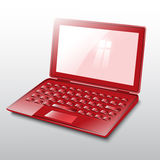 Laptop red.Vector. Laptop red on white background Stock Photography