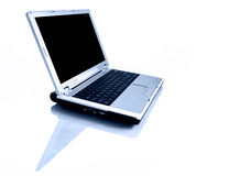 Laptop with reflection Stock Photography