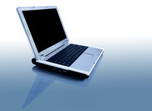 Laptop with reflection royalty free stock photography