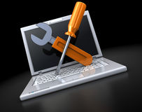 Laptop repair Stock Photography