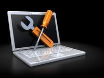 Laptop repair Royalty Free Stock Images