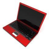 Laptop rood Royalty-vrije Stock Afbeeldingen