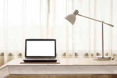 Laptop in room Royalty Free Stock Photography