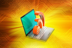 Laptop with rss icon Stock Image