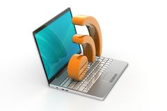 Laptop with rss icon Stock Photos