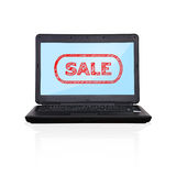 Laptop with sale Stock Images