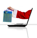 Laptop santa Royalty Free Stock Photos