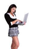 Laptop School Girl Stock Photos