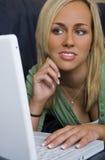 Laptop Schoonheid Stock Foto