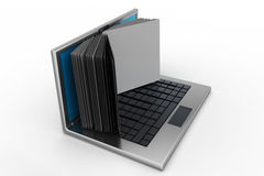 Laptop screen as book Stock Image