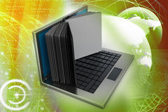 Laptop screen as book Royalty Free Stock Photography