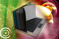 Laptop screen as book Royalty Free Stock Image
