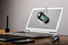 Laptop screen calibtation Royalty Free Stock Image