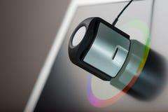 Laptop screen calibtation Stock Images