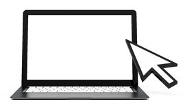 The laptop screen Royalty Free Stock Photography