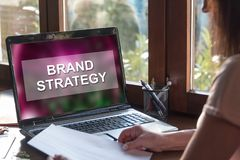 Brand strategy concept on a laptop screen Stock Photography