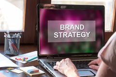 Brand strategy concept on a laptop screen Royalty Free Stock Image