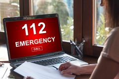 Emergency concept on a laptop screen Royalty Free Stock Photos