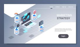 Laptop screen financial chart statistic data finance analytics report marketing strategy concept 3d isometric trading. Application interface horizontal flat royalty free illustration