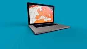 Laptop screen graphics Royalty Free Stock Photo