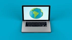 Laptop screen graphics Royalty Free Stock Image