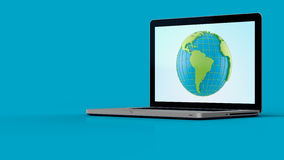 Laptop screen graphics Royalty Free Stock Photography