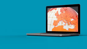 Laptop screen graphics Royalty Free Stock Images