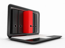 Laptop Screen In File And Folders Royalty Free Stock Images