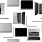 Laptop seamless pattern Royalty Free Stock Photo