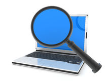 Laptop search Stock Photography