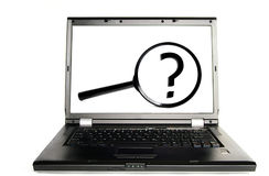 Laptop search Royalty Free Stock Image