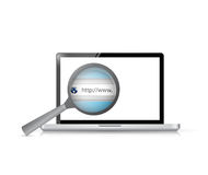 Laptop search bar view illustration design Royalty Free Stock Image