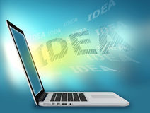 Laptop search solution business ideas in Stock Image