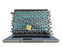 Laptop secure Royalty Free Stock Photos