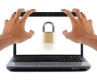 Laptop security Stock Photography