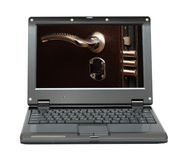 Laptop with security concept Royalty Free Stock Image