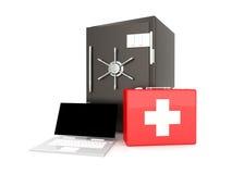 Laptop Security suite Stock Photos