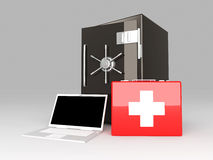 Laptop Security suite Royalty Free Stock Photo