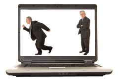 Laptop Senior Executive 2 Stock Image