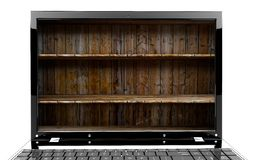 Laptop with shelf Stock Image