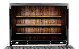 Laptop with shelf Royalty Free Stock Photo