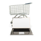 Laptop Shopping Royalty Free Stock Photos